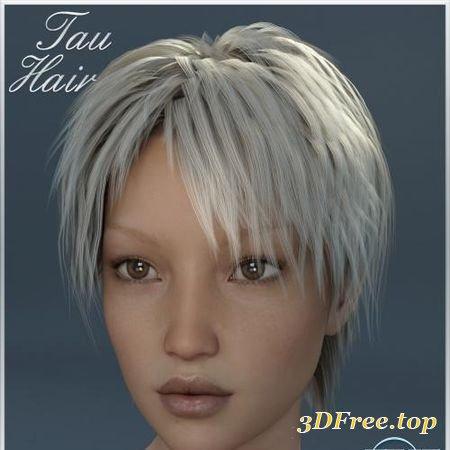 TAU HAIR FOR GENESIS 3 (Poser)