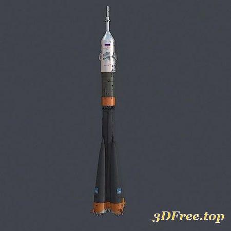 SOYUZ TMA SOVIET SPACE ROCKET SHIP (3DMax)