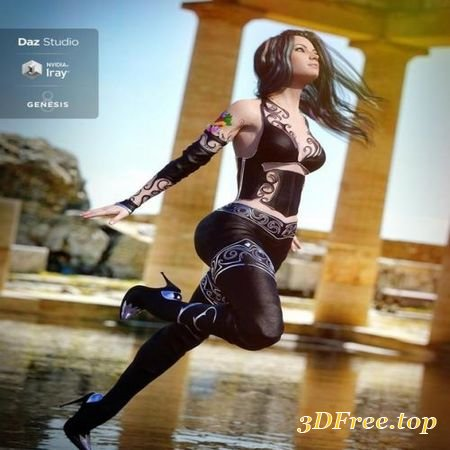VOIDBRIGHT OUTFIT FOR GENESIS 8 FEMALE(S) (Poser)