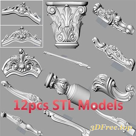 3D Models BED SOFA BACK FLOWER STL RELIEF MODEL FOR CNC CARVING S037