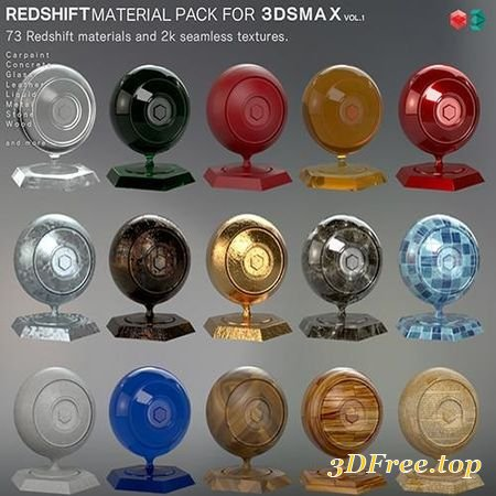 REDSHIFT MATERIAL PACK FOR 3DSMAX VOL1 3D MODEL (3DMax)
