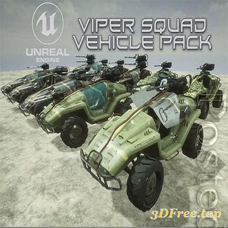 VIPER SQUAD VEHICLE PACK LOW-POLY 3D MODEL