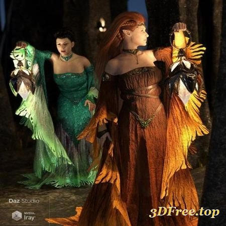 DFORCE THE SYLPH OUTFIT FOR GENESIS 8 FEMALE(S) (Poser)