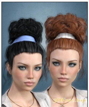 LAURAN HAIR FOR GENESIS 3 FEMALE(S) (Poser)