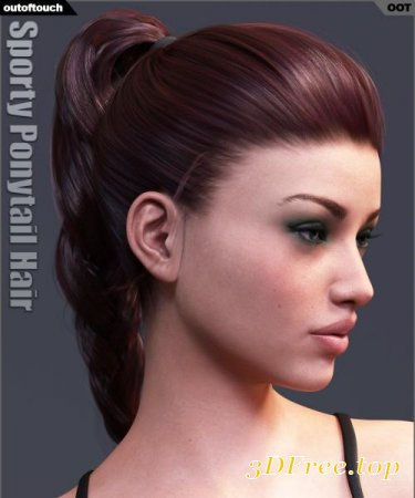 SPORTY PONYTAIL HAIR AND OOT HAIRBLENDING 2.0 FOR G3F (Poser)