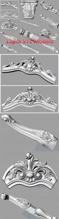 BED SOFA BACK FLOWER STL RELIEF MODEL FOR CNC CARVING S037 3D MODEL
