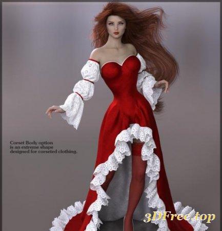 3DA DAVINIA QUEEN OF HEARTS FOR GENESIS 8 FEMALE (Poser)