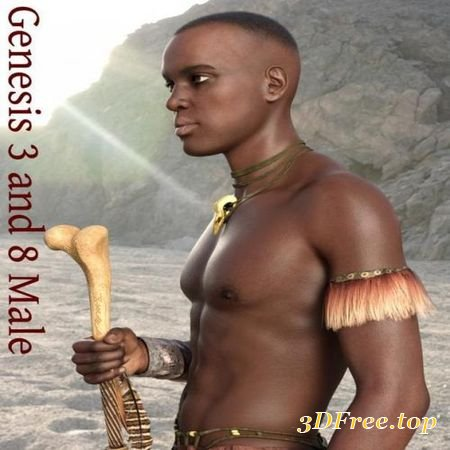 DARK SKIN TEXTURE MERCHANT RESOURCE FOR GENESIS 3 AND 8 MALE (Poser)
