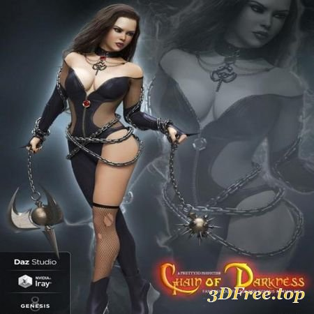 CHAIN OF DARKNESS OUTFIT FOR GENESIS 8 FEMALE(S) (Poser)