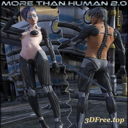 HFS MORE THAN HUMAN 2.0 BUNDLE (Poser)