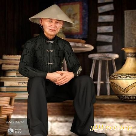 DFORCE TRADITIONAL OUTFIT FOR GENESIS 8 MALE(S) (Poser)