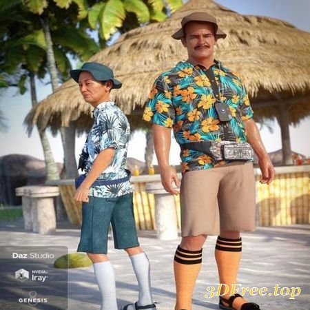DFORCE ON VACATION OUTFIT TEXTURES