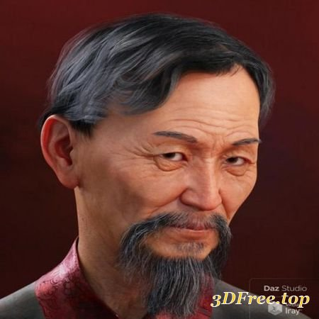 JIAN HAIR FOR GENESIS 3 AND 8 MALE (Poser)
