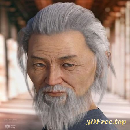 NIKAN HAIR AND BEARD FOR GENESIS 3 & 8 MALE(S) (Poser)
