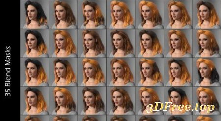 IDG IRAY SELECTABLE HAIR COLOR SHADER (Poser)
