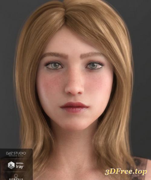 3D Models Nora HD for Genesis 8 Female download free