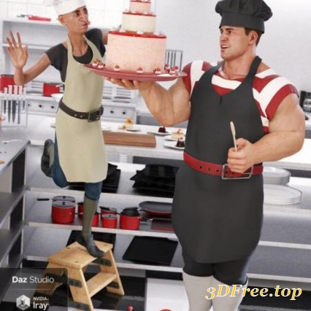 DFORCE CRAZY CHEF OUTFIT TEXTURES