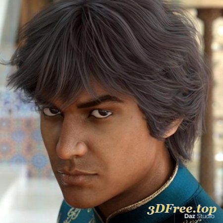 VARUN HAIR FOR GENESIS 3 AND 8 MALE(S)