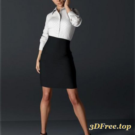 H&C dForce Office Outfit for Genesis 8 Female(s)