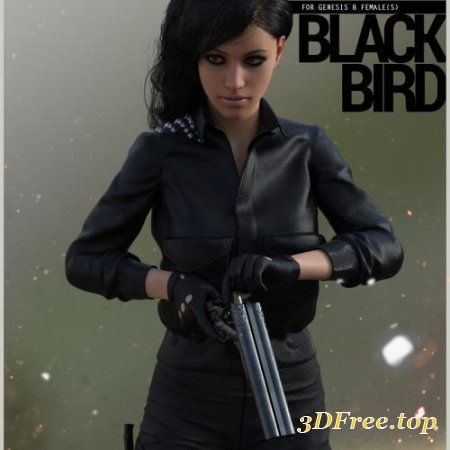 BLACK BIRD OUTFIT FOR GENESIS 8 FEMALE