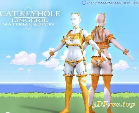 CAT KEYHOLE LINGERIE MATERIAL ADD-ON FOR G8F