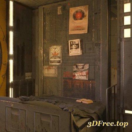 SciFi Living Bedroom