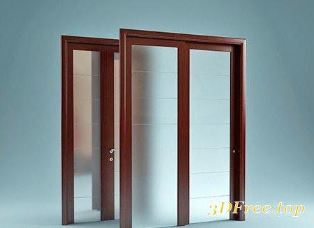 MODERN GLASS DOORS 3D MODEL