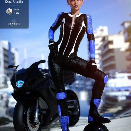 Motorbike Suit Outfit for Genesis 8 Female(s)