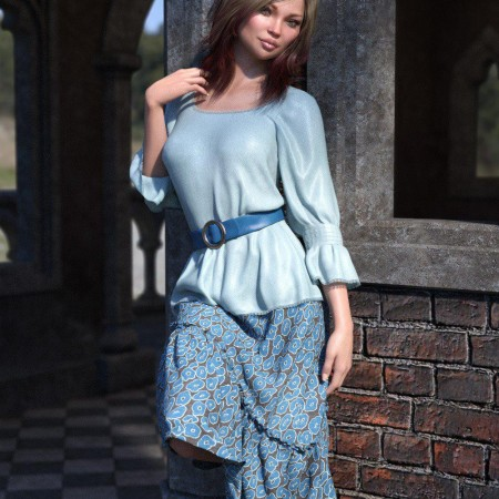 dForce Collection 03 - Boho Outfit for Genesis 8 Female(s)