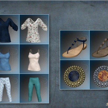 dForce Collection 01 - Casual Pants & Blouse for Genesis 8 Female(s)