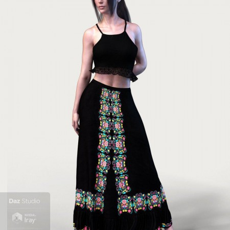 dForce X-Fashion Boho Chic Outfit 04 for Genesis 8 Female(s)
