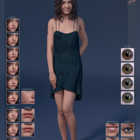 Sina HD & Smile HD Expression for Genesis 8 Female