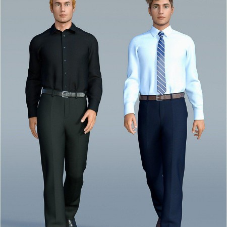 dForce H&C Dress Shirt Outfit for Genesis 8 Male(s)