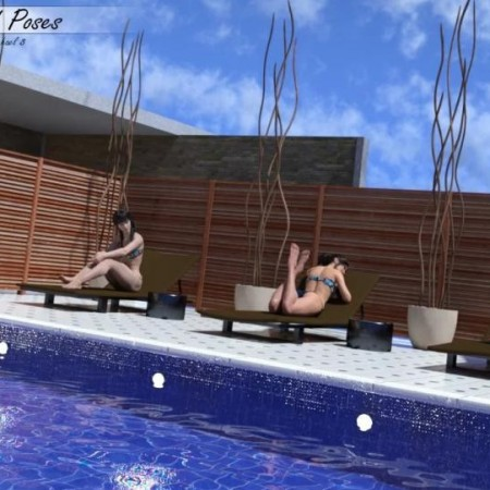 Outdoor Pool and Poses for Victoria 8 and Michael 8