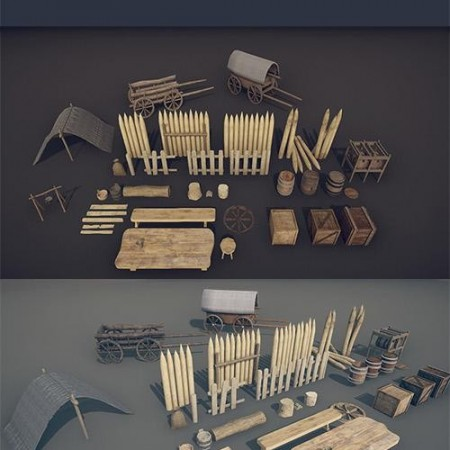 MEDIEVAL PROPS – MEGA PACK LOW-POLY 3D MODELS