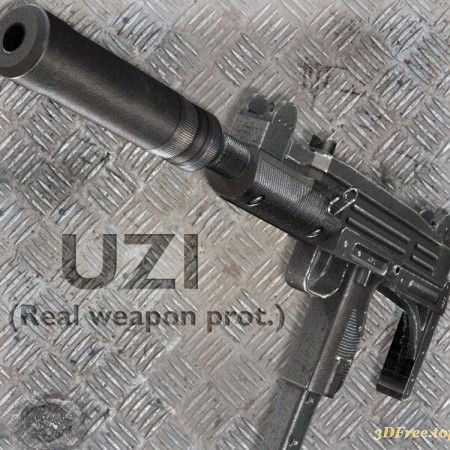 UZI Submachine Gun with Silencer