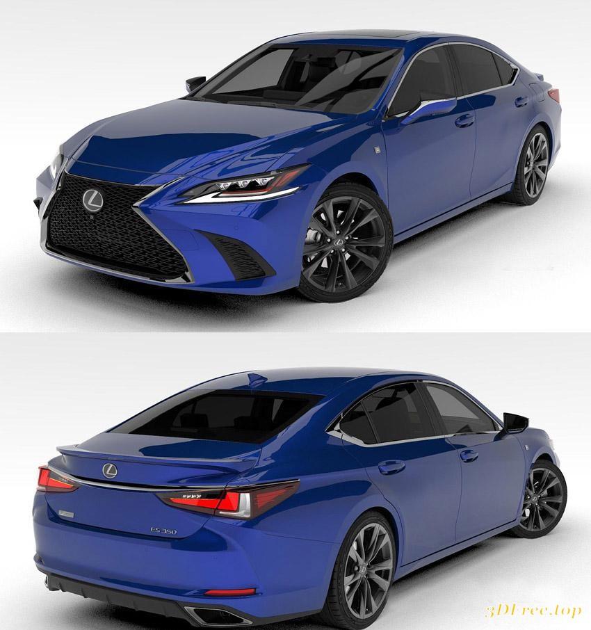 Lexus Gs F Sport 2015 3d Model: 3D Models Lexus ES350 F-Sport 2019 Download Free