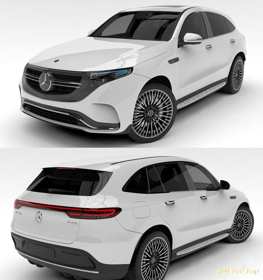 Mercedes Benz Glc Class X205 2015 3d Model: 3D Models Mercedes-Benz EQC 400 4Matic 2020 Download Free