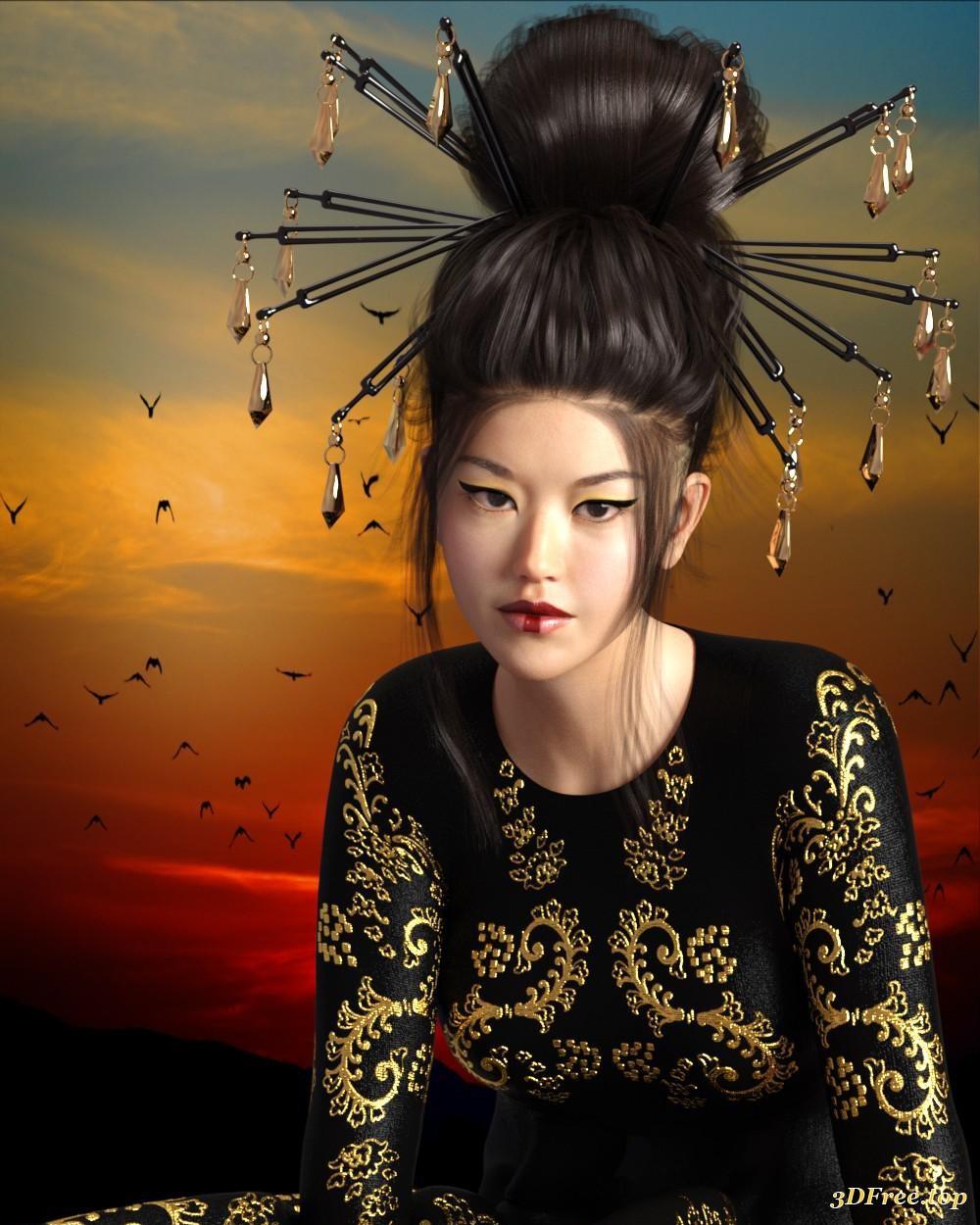 3D Asian Girl 3d models east asian women for mei lin 8 download free