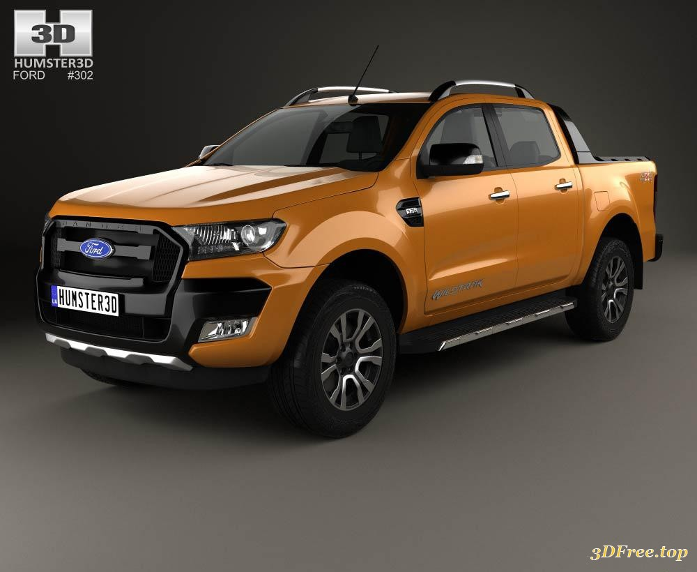 3D Models Ford Ranger Double Cab Wildtrak 2016 download free
