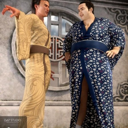 dForce Kimono Outfit Male Textures