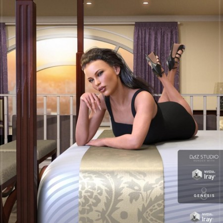 Z Hotel Room – Environment with Poses for Genesis 3 and 8
