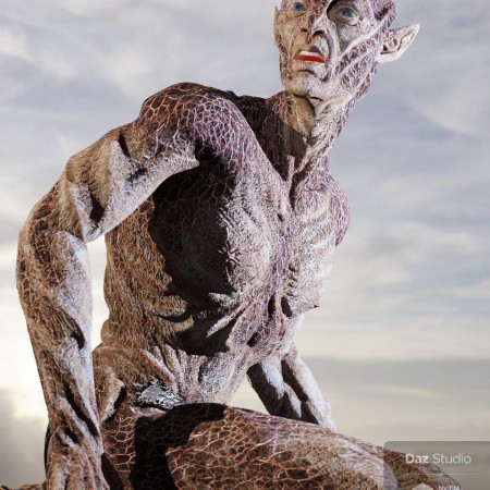 Oumua HD Alien Creature for Genesis 8 Male