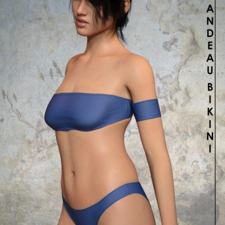RealFit Bandeau Bikini for Genesis 8 Female(s)