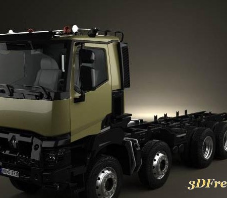 Renault K 430 Chassis Truck 4axis 2013