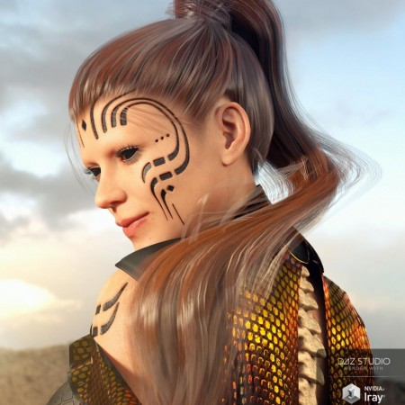 Sleek Ponytail Hair for the Genesis 8 and 3 Female(s)