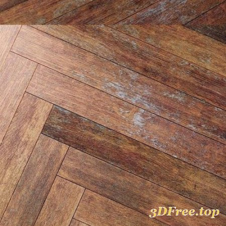 Rustic Wooden Floor, Worn Out