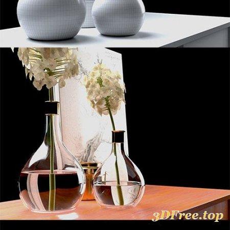Cubebrush - Haydrangea & Credenza Set model
