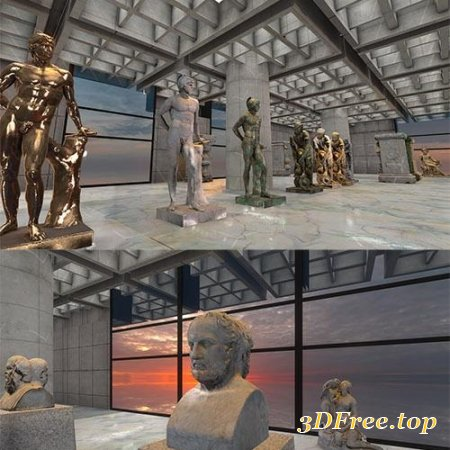 Greek - Roman Sculptures for Unity 3D