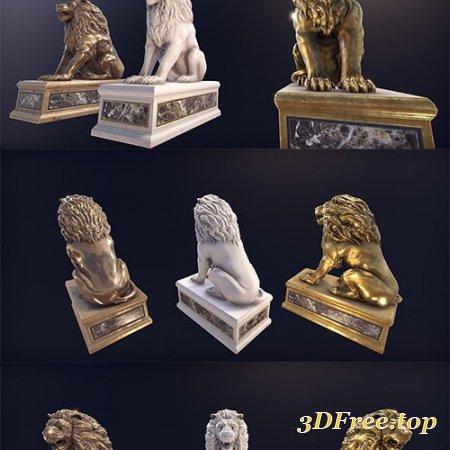 A statue of a lion.